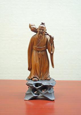 黄杨木雕《东方朔偷桃》