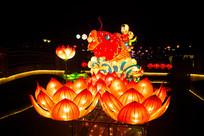 鲤鱼莲花灯
