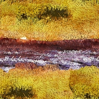 抽象风景水彩印花