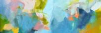 抽象写意山水画
