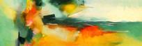 抽象艺术客厅壁画