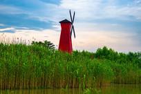 风车与芦苇