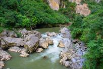 贵州荔波小七孔溪涧山水