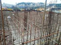 建筑工地的钢筋基础