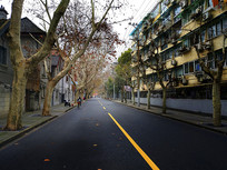 深冬上海小马路