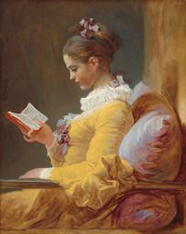 弗拉戈纳尔油画-读书少女