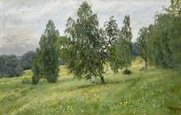 列维坦油画-夏季