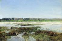 列维坦油画-早春