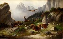 穆勒·莫里茨油画- 羚羊