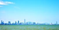 深圳湾的都市楼宇
