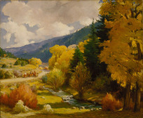 油画-陶斯峡谷