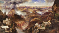 斑斓的科罗拉多大峡谷油画