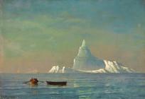 大西洋的冰山油画