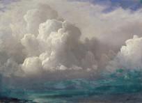 风暴云油画