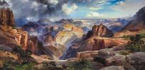 雾气中的科罗拉多大峡谷油画