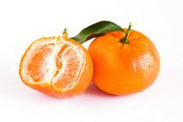 剥开的默科特水果白底图片