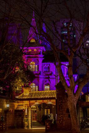 马勒别墅饭店进口紫色夜景