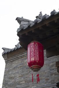 古建筑红灯笼