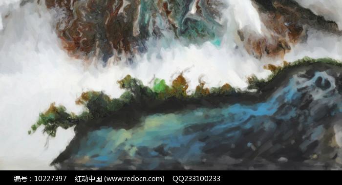 高清中式壁画图片