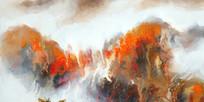 中式山水壁画
