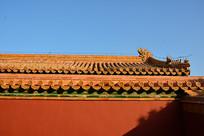 北京故宫红墙特写