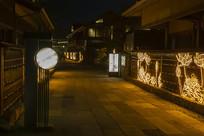 拈花湾吃茶去夜景