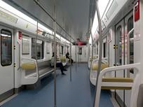 重庆轻轨地铁车厢内景