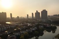 城市朝阳升