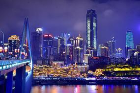 千厮门大桥夜景
