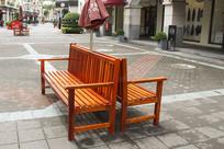 商业街上座椅