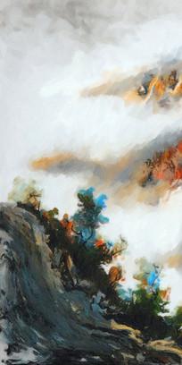 中国风水墨山水装饰画