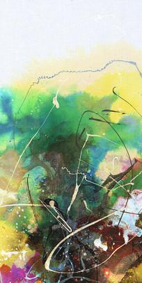 电梯间壁画手绘抽象油画