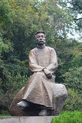 杭州西湖鲁迅坐像