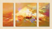 三联组合抽象艺术无框画
