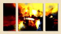 三拼抽象画