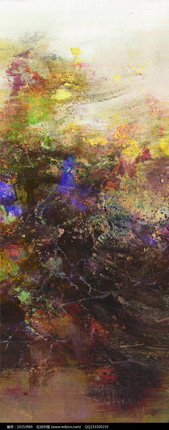 竖版抽象油画图片