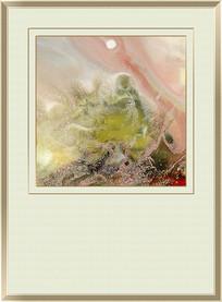 水墨流体抽象艺术壁画