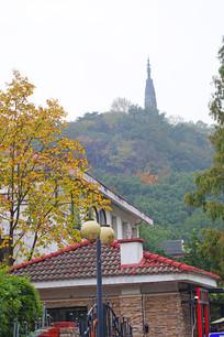 西湖宝石山保俶塔与传统建筑