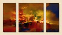 组合抽象三联装饰画