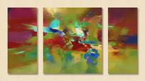 组合三拼画抽象组合