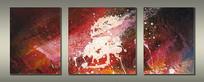 高清三联抽象油画