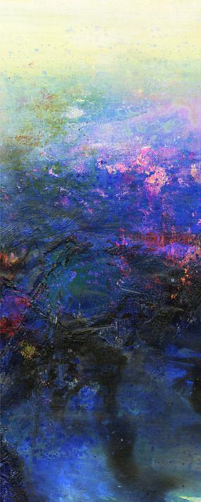 蓝色意境抽象油画
