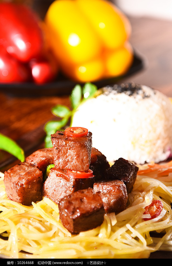 椒盐烤肉图片