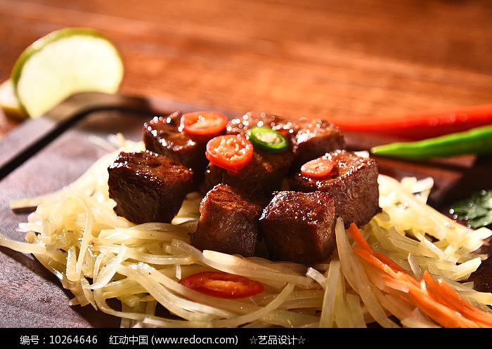 烤肉拌豆丝图片