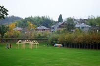 莫干山民宿区草坪
