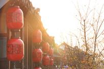 上海朱家角古镇大红灯笼