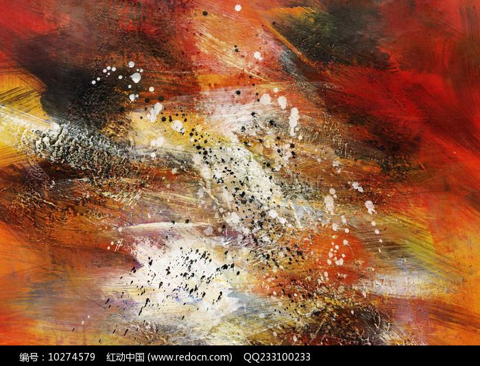 手绘抽象油画 图片