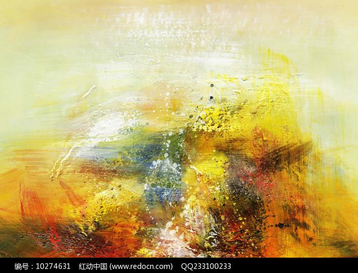 手绘抽象油画素材图片