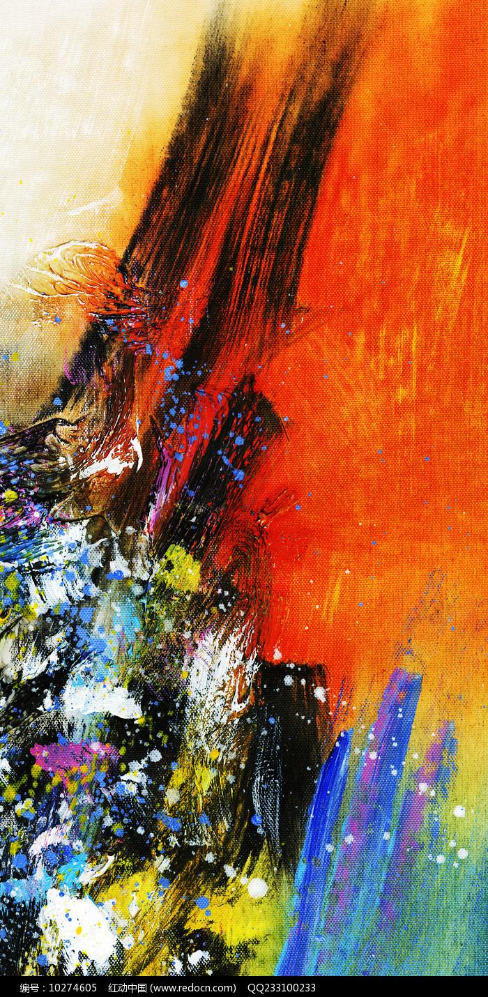竖版抽象油画背景图片