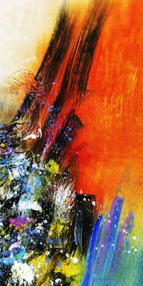 竖版抽象油画背景